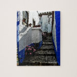 Shop and Steps in Obidos Portugal Jigsaw Puzzle