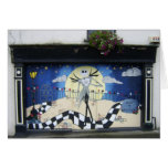 """Shop (For Sale) With Decorative Window Painting """"H Greeting Card"""