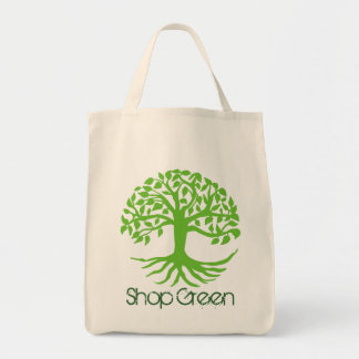 Shop Green Organic Tote Grocery Tote Bag