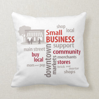 Shop Local Buy Local Small Business Pillow