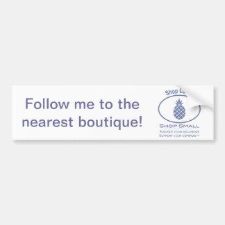 Shop Local, Shop Small blue pineapple Bumper Sticker