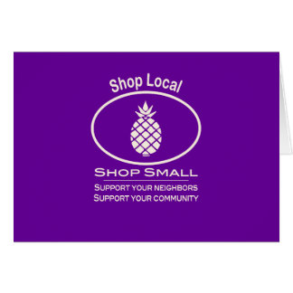 Shop Local, Shop Small cream pineapple Greeting Card