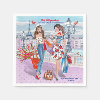 Shop 'til you drop |Birthday Party | Paper Napkins