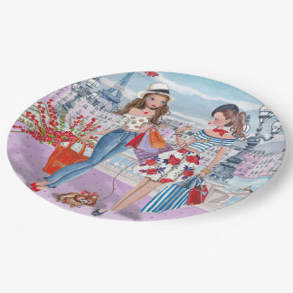 Shop 'til you drop | Birthday | Party Paper Plates 9 Inch Paper Plate