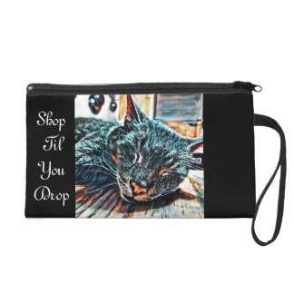 Shop Til You Drop Cat Wristlet