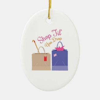 Shop Til You Drop Ceramic Oval Decoration