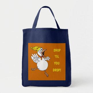 SHOP, 'TIL, YOU, DROP! GROCERY TOTE BAG