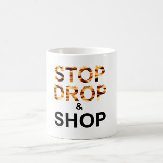Shop til you drop (Mug) Basic White Mug