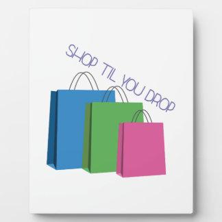 Shop Til You Drop Display Plaques