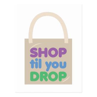 Shop Til You Drop Postcard