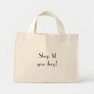 Shop 'til you drop! canvas bags