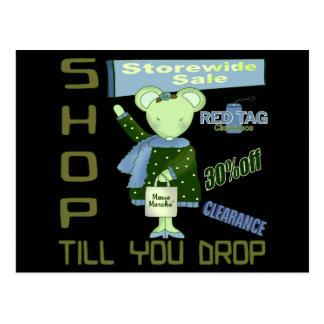 Shop Till You Drop Postcards