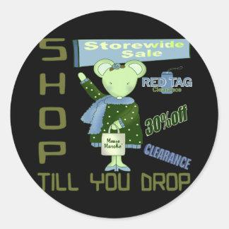 Shop Till You Drop Stickers