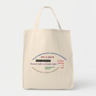 Shop with progressive slogans