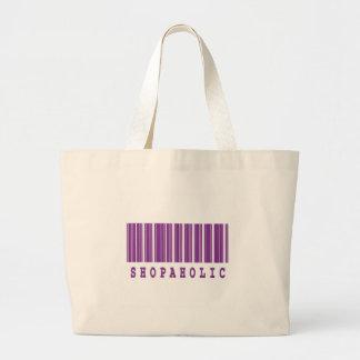 shopaholic barcode design bags