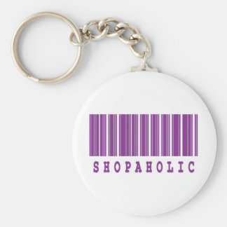 shopaholic barcode design keychains