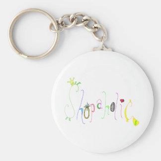 Shopaholic Basic Round Button Key Ring