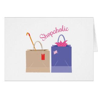 Shopaholic Greeting Cards