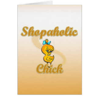 Shopaholic Chick Greeting Cards