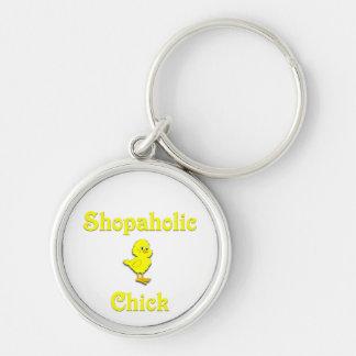 Shopaholic Chick Key Chain