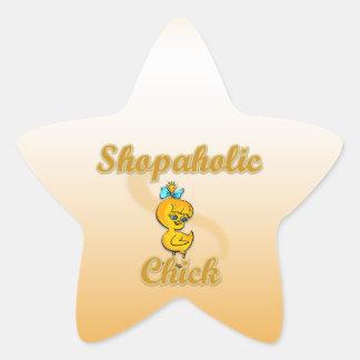 Shopaholic Chick Star Stickers
