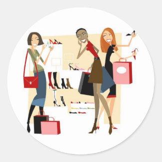 Shopaholic Classic Round Sticker