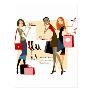 Shopaholic Greeting Cards Postcard