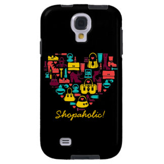 Shopaholic (heart) Customizable Galaxy S4 Case