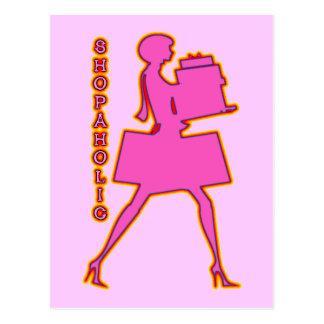 SHOPAHOLIC POSTCARD