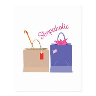 Shopaholic Postcard