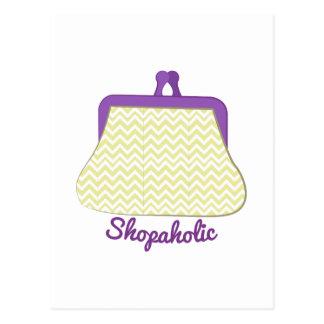 Shopaholic Purse Postcard