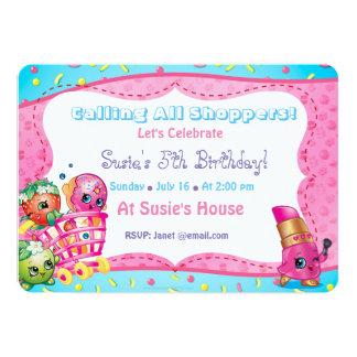 Shopkin's Birthday Invitation