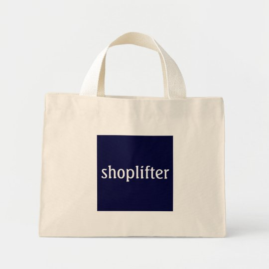 shoplifter mini tote bag