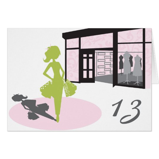 Shopper Girl Birthday Card