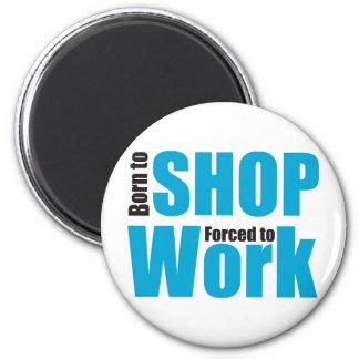 shopping 6 cm round magnet