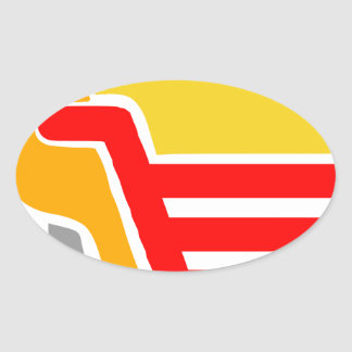 shopping - Abstract Oval Sticker