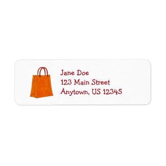 Shopping Bag Return Address Labels