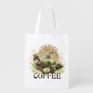 Shopping Bag with Womans best friend is coffee log