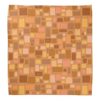 Shopping bags pattern, autumn colors bandana