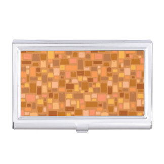 Shopping bags pattern, autumn colors business card holder