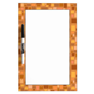 Shopping bags pattern, autumn colors dry erase board