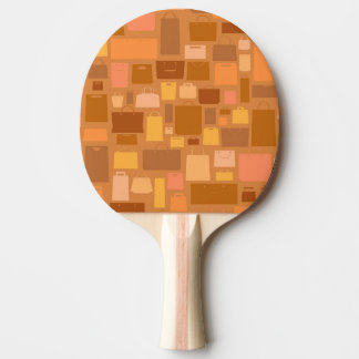 Shopping bags pattern, autumn colors ping pong paddle