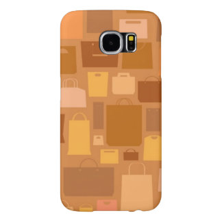 Shopping bags pattern, autumn colors samsung galaxy s6 cases