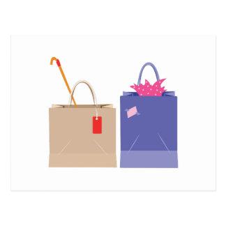 Shopping Bags Postcard