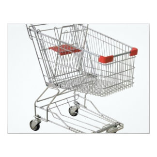 shopping-cart 11 cm x 14 cm invitation card