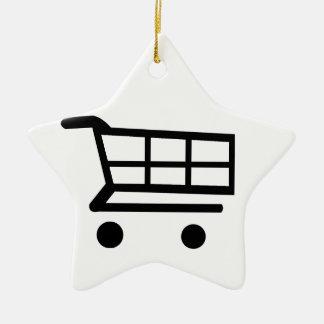 Shopping Cart Christmas Ornament