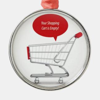 Shopping cart design christmas ornament