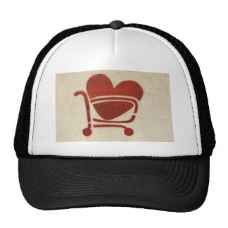 Shopping Cart Heart Cap