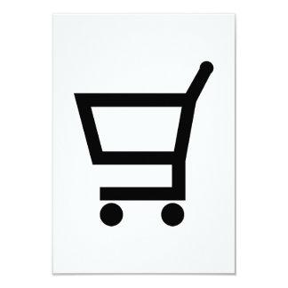 "Shopping cart 3.5"" x 5"" invitation card"