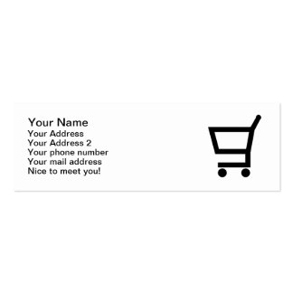 Shopping cart pack of skinny business cards